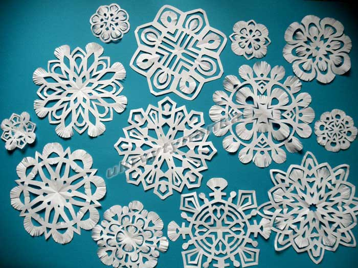 Снежинки вытынанки